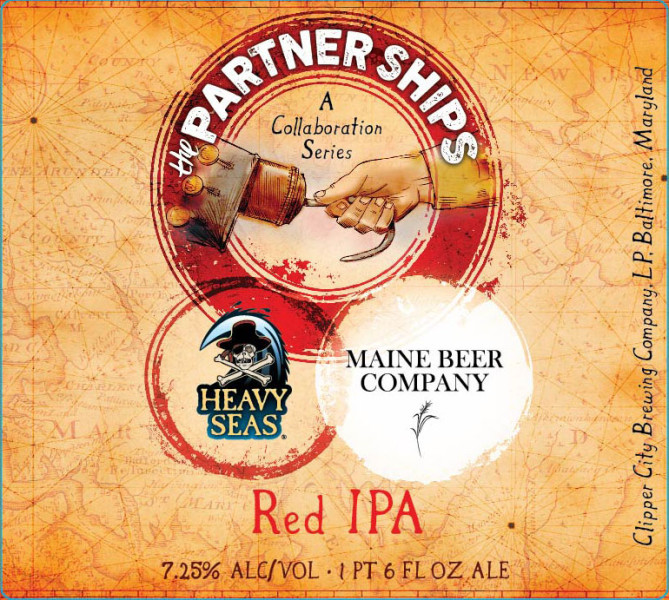 Heavy Seas Partner Ships Red IPA with Maine Beer Company