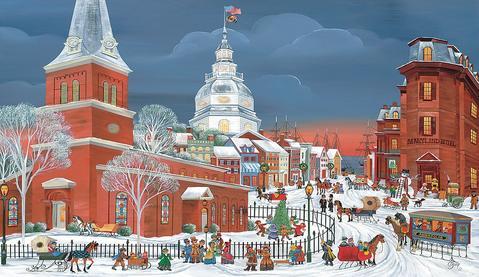 Folk Art Annapolis Holiday Season's Greetings Cards